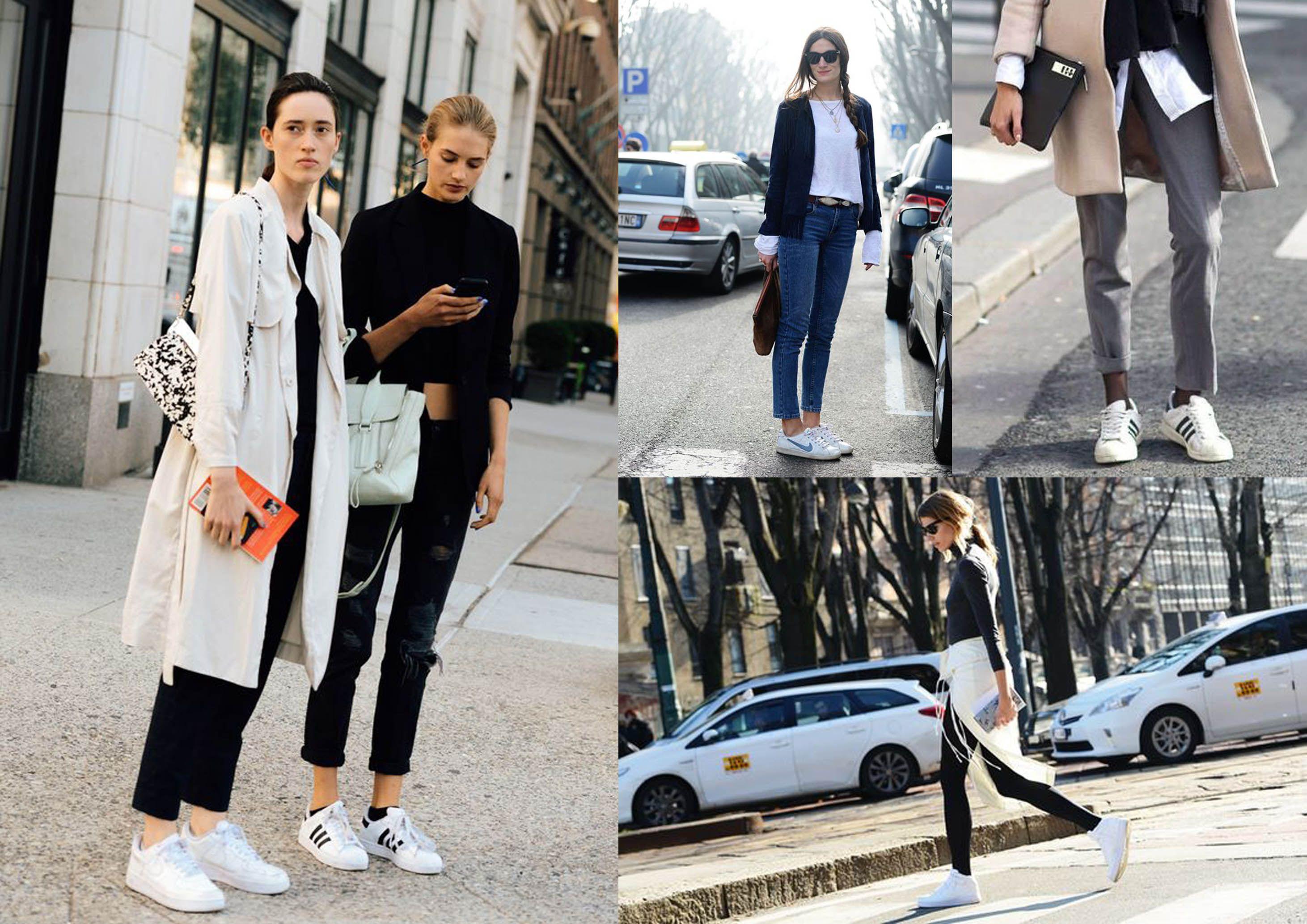 White Sneakers Go Everywhere. Popularitas Sneaker Putih dalam Berbagai Gaya
