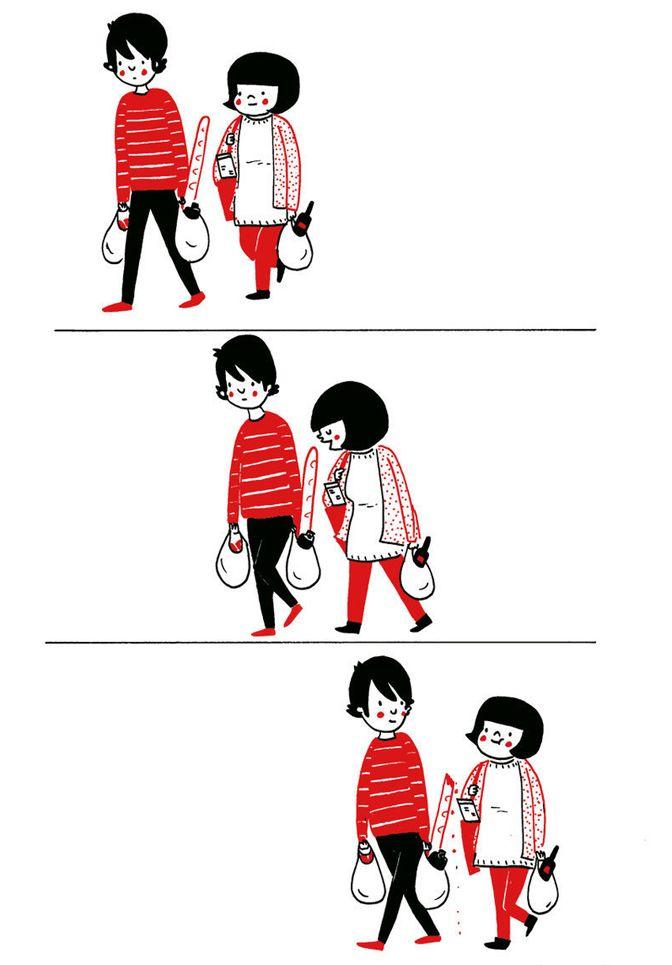 Cute Banget! Ilustrasi Ini Mengingatkan Kita bahwa Cinta Itu Sederhana