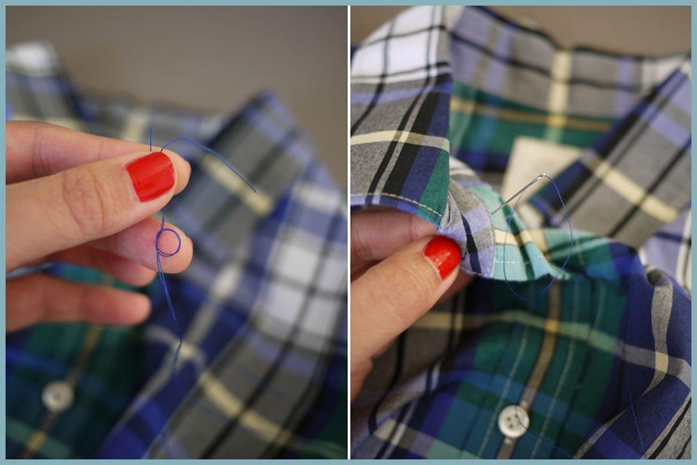 Trik Super Mudah Ubah Kemeja Lama Kamu Menjadi Kemeja Manik-Manik Super Chic.