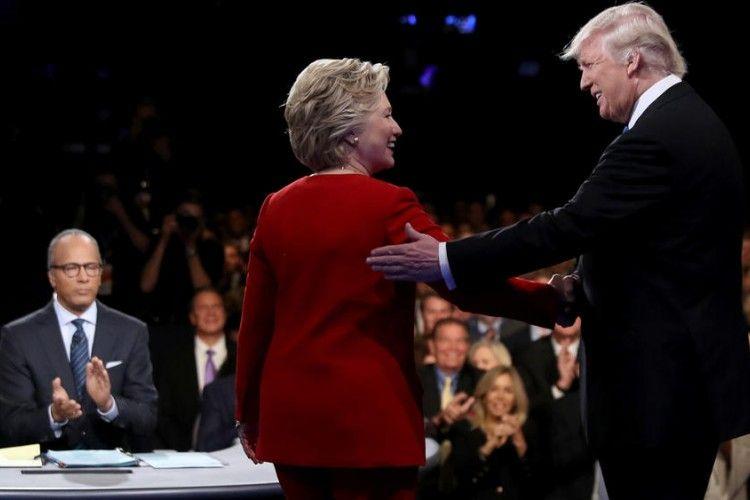 Ini Keseruan Debat Kepresidenan Antara Clinton Vs Trump
