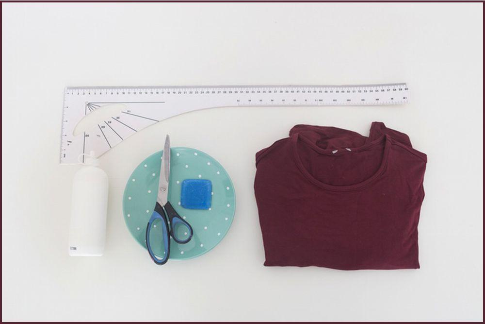 DIY Membuat Cold Shouldres Dress Hanya dalam Waktu15 Menit