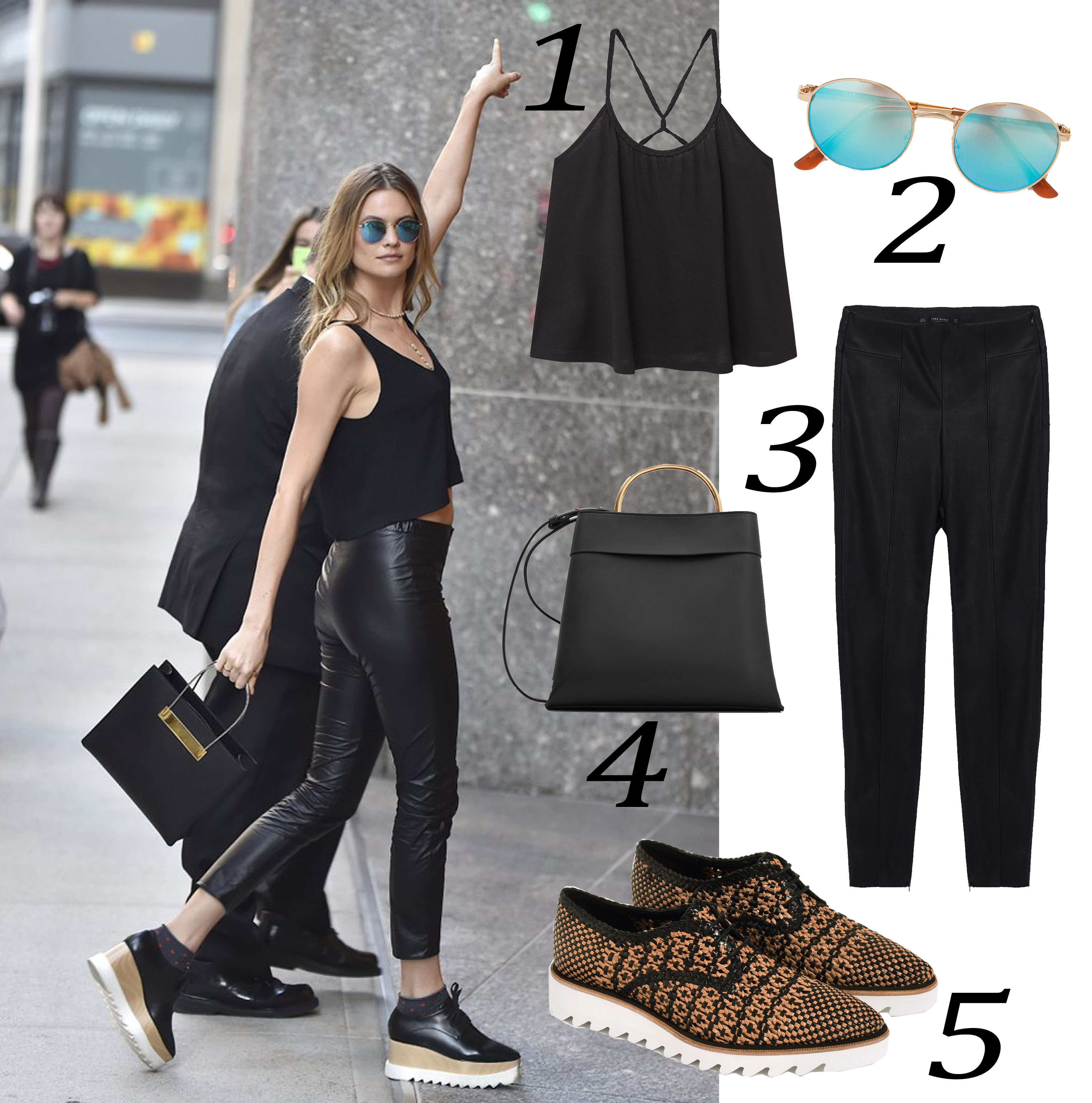 Gaya Head-to-Toe Warna Hitam yang Chic dari Behati Prinsloo