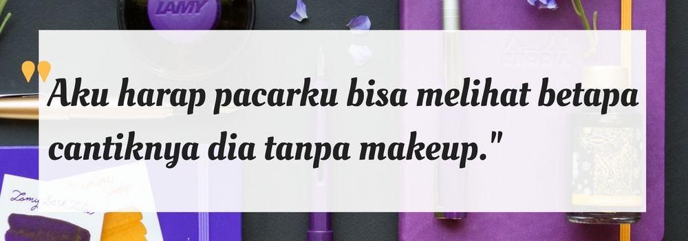Ini Alasan Banyak Pria Lebih Suka Cewek Tanpa Makeup