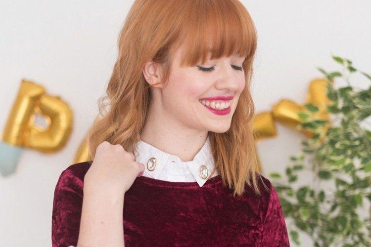 Yuk Buat Colar Velvet Dress dari Kemeja Lama dengan DIY ini