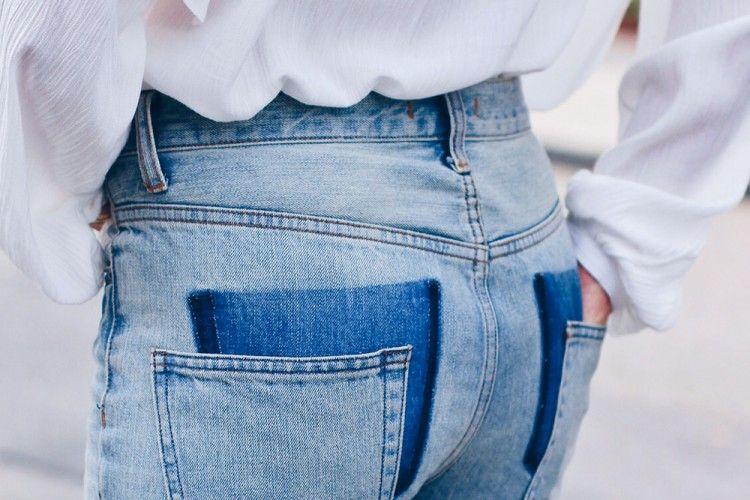DIY Membuat Drop Pocket yang Bikin Celana Jeansmu Lebih Chic