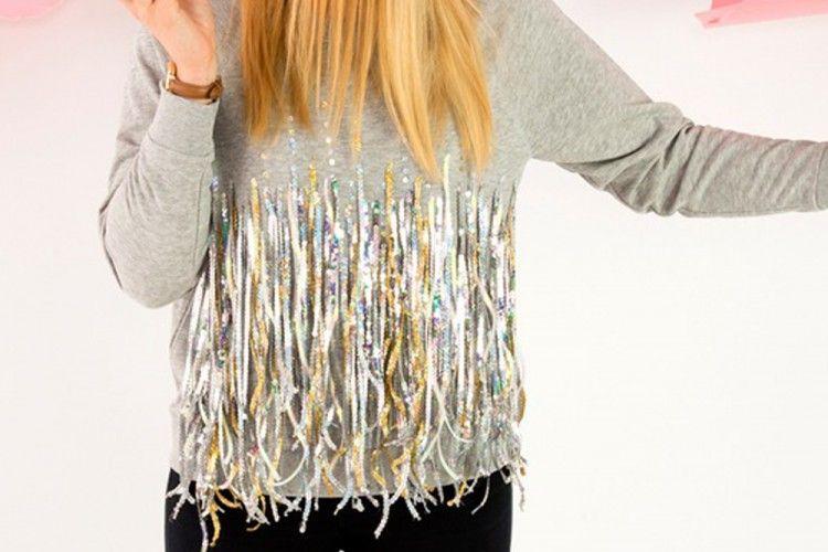 DIY Membuat Sweater Sequin untuk Penampilan yang Lebih Menarik
