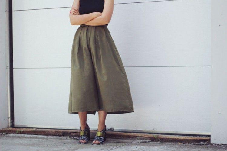 Tampil Keren dengan Mix N Match Celana Kulot
