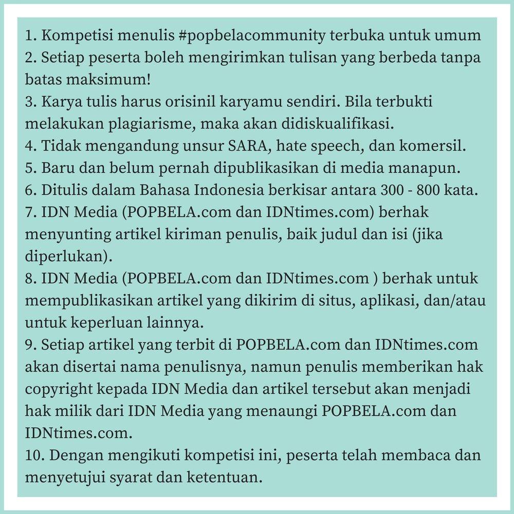 Yuk Ikut Kompetisi Menulis Popbela.com! Menangkan Hadiah Jutaan Rupiah