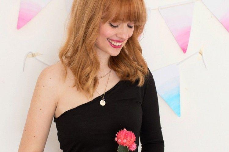 DIY Cepat Membuat Dress One Shoulder untuk Penampilan Lebih Anggun