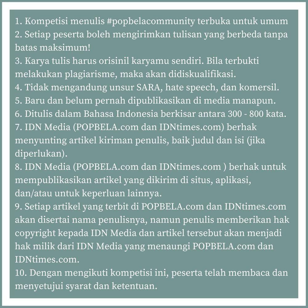 Yeay! Kompetisi Menulis Popbela Community Berhadiah Rp 5 Juta Diperpanjang