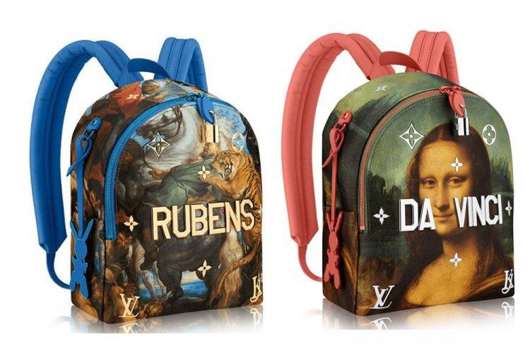 Berkolaborasi dengan Jeff Koons, Louis Vuitton Hadirkan Tas Bergambar Lukisan Terkenal Dunia