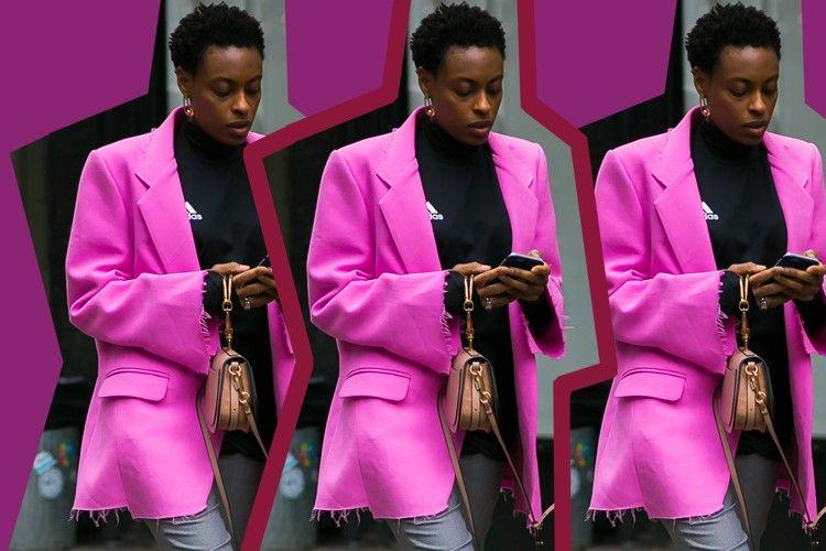 #PopbelaOOTD: Ke Kantor Lebih Keren dengan Pink Blazer yang Shocking!