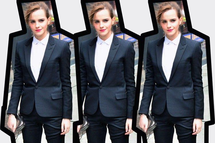 #PopbelaOOTD: Inspirasi Power Suit dari Emma Watson