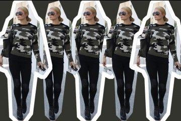 #PopbelaOOTD: Gaya Army ala Si Cantik Paris Hilton