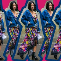 #PopbelaOOTD: Kombinasi Denim dan Dress Floral yang Edgy