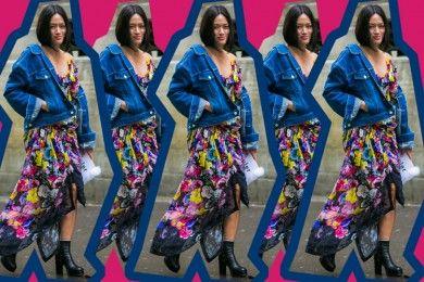 #PopbelaOOTD: Kombinasi Denim dan Dress Floral yang Edgy