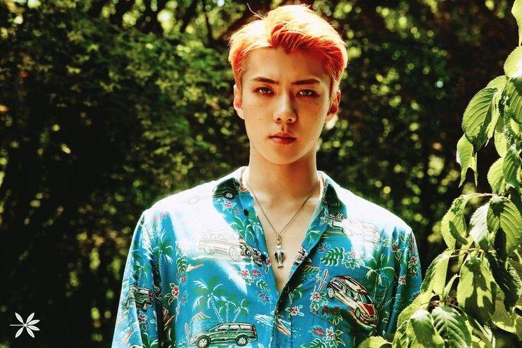 Bikin Heboh, Sehun EXO Nyanyikan Ko Ko Bop di Korea Pakai Batik!