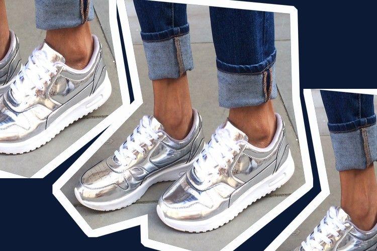 #PopbelaOOTD: Tren Sepatu Metalik dikalangan Millennial