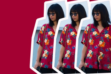 #PopbelaOOTD: Kemeja Floral untuk Ceriakan Harimu