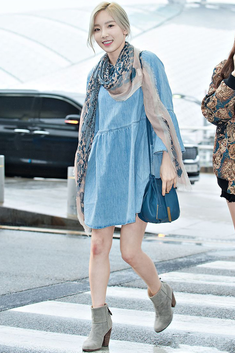 5 Gaya Keren Taeyeon SNSD, Simpel Tapi Tetap Modis