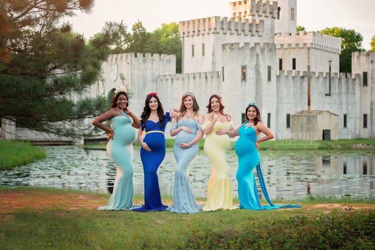 Tetap Anggun, Begini Potret Kehamilan a la Putri Disney