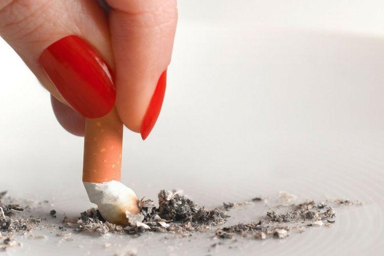 Tips dan Cara Menghilangkan Bau Mulut Secara Alami - putung rokok