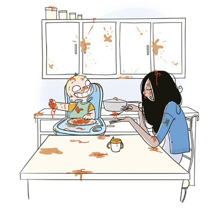 10 Ilustrasi Ini Gambarkan Rasanya Menjadi Ibu di Usia 20an