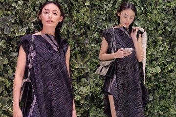 Batik Jadi Outfit Favorit Mantan Putri Indonesia, Whulandary Herman
