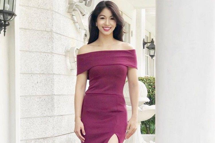 Suka Tampil Feminin, Dress Jadi Busana Pilihan Karenina Sunny Halim