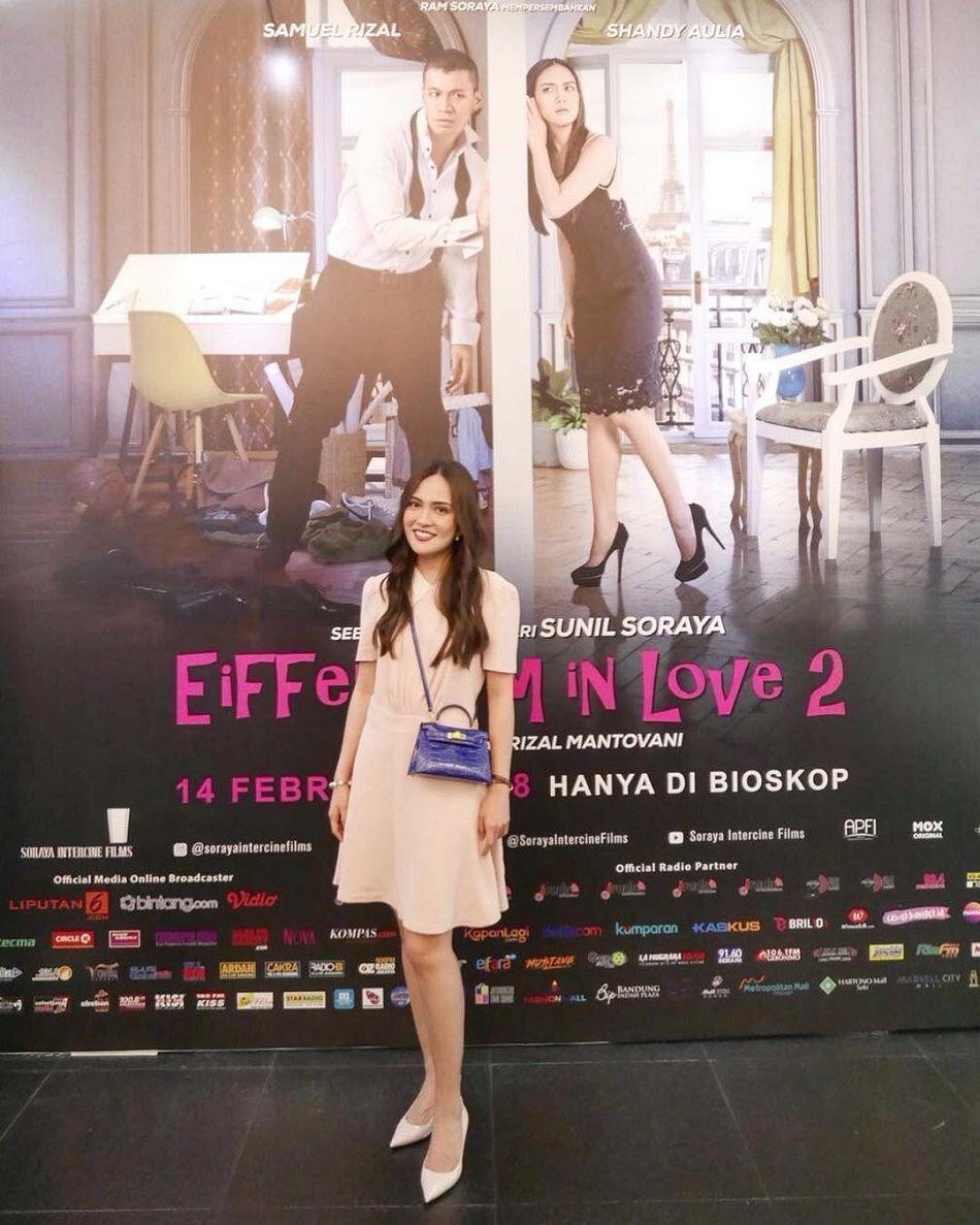 Demam Eiffel I'm in Love 2? Intip Gaya Terbaru Shandy Aulia Yuk!
