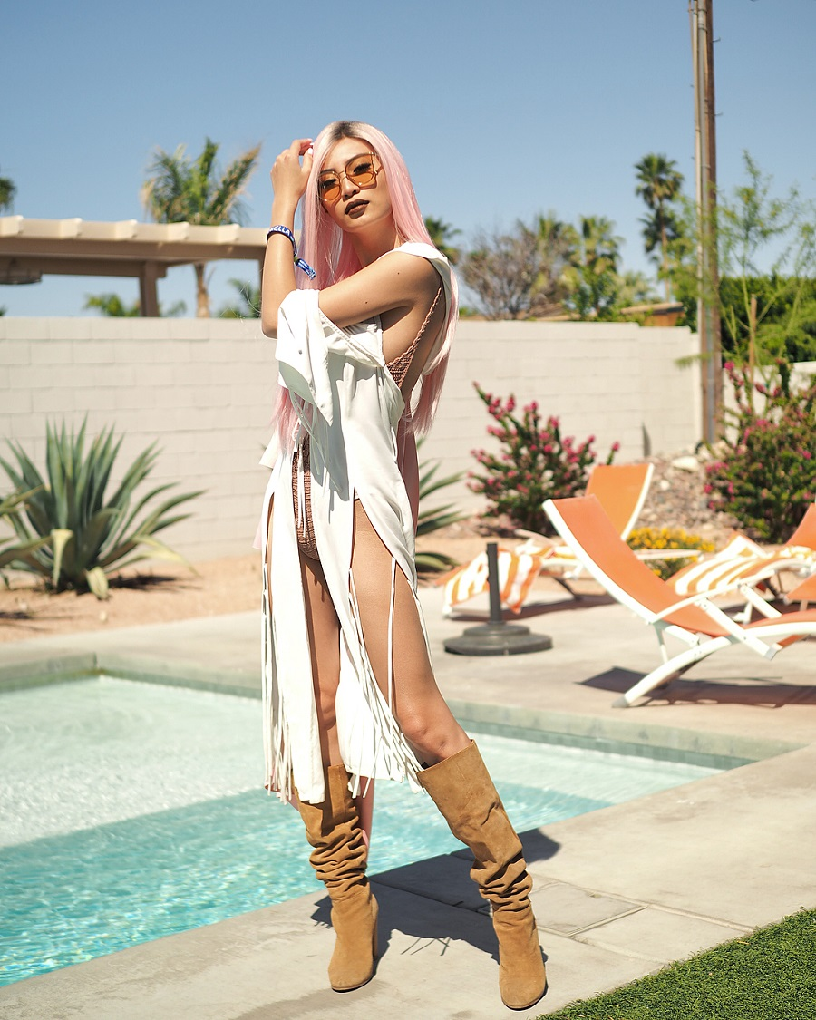 Tampil Total, Ini Gaya Nia Ramadhani Hingga Patricia Gouw di Coachella 2018