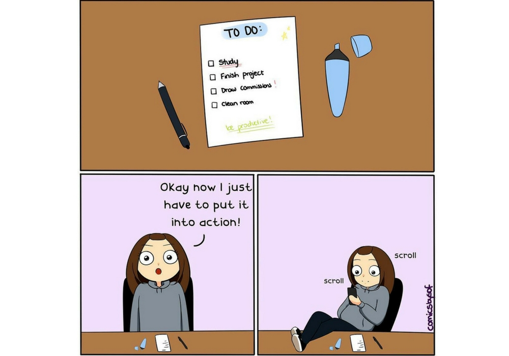 Komik Lucu Ini Gambarkan Kehidupan Kita Sebagai Mahasiswi