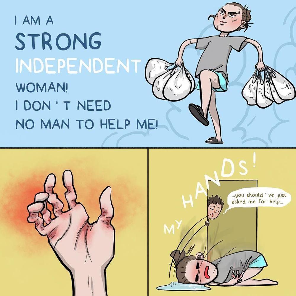 13 Ilustrasi Lucu tentang Masalah Sehari-hari Kita sebagai Perempuan