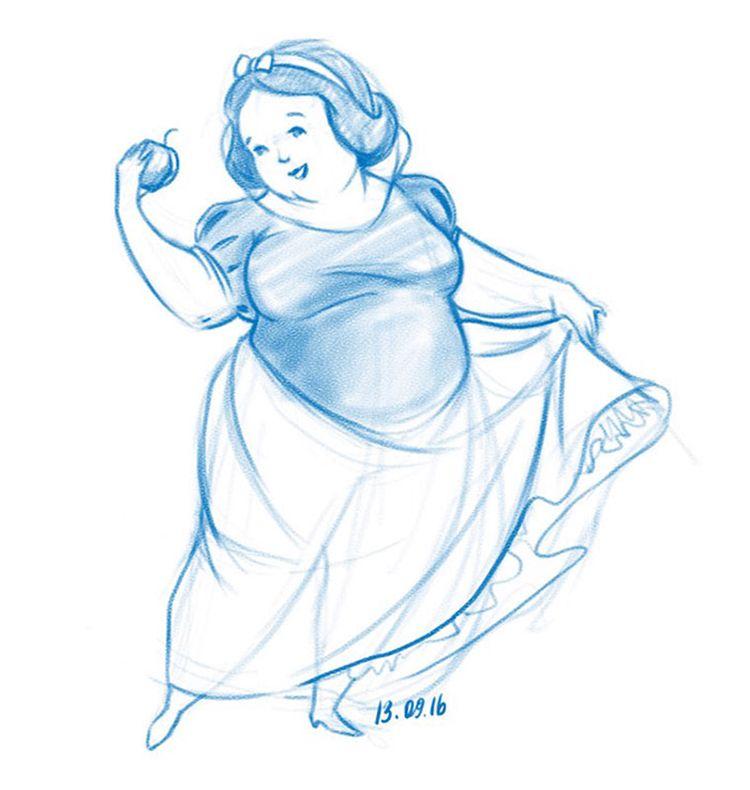 Tetap Memesona, Ini Bukti Kalau Putri Disney Nggak Harus Bertubuh Langsing