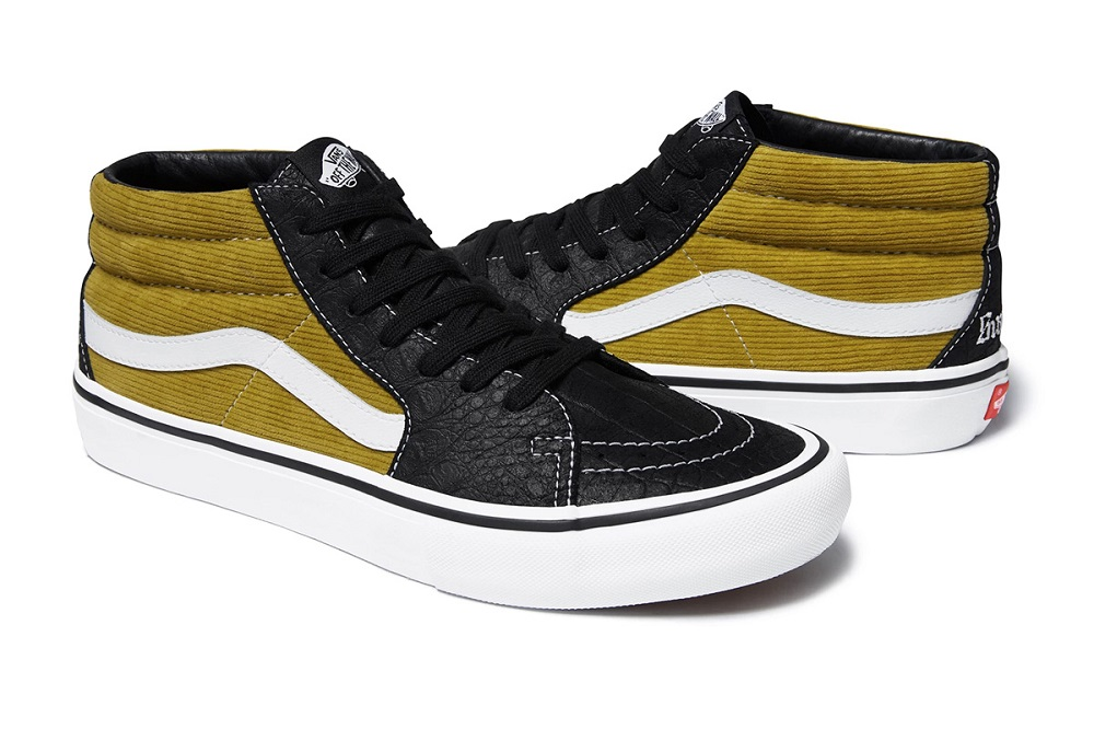 Supreme x Vans Luncurkan Sneakers Berbahan Corduroy