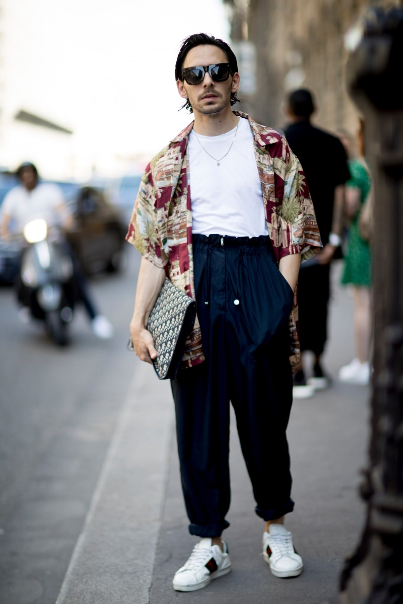 10 OOTD Hits Para Street Style Star yang Meramaikan Paris Fashion Week Men's 2018