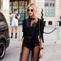 Tampil Chic Memakai Tulle Outfit A la Street Style Star