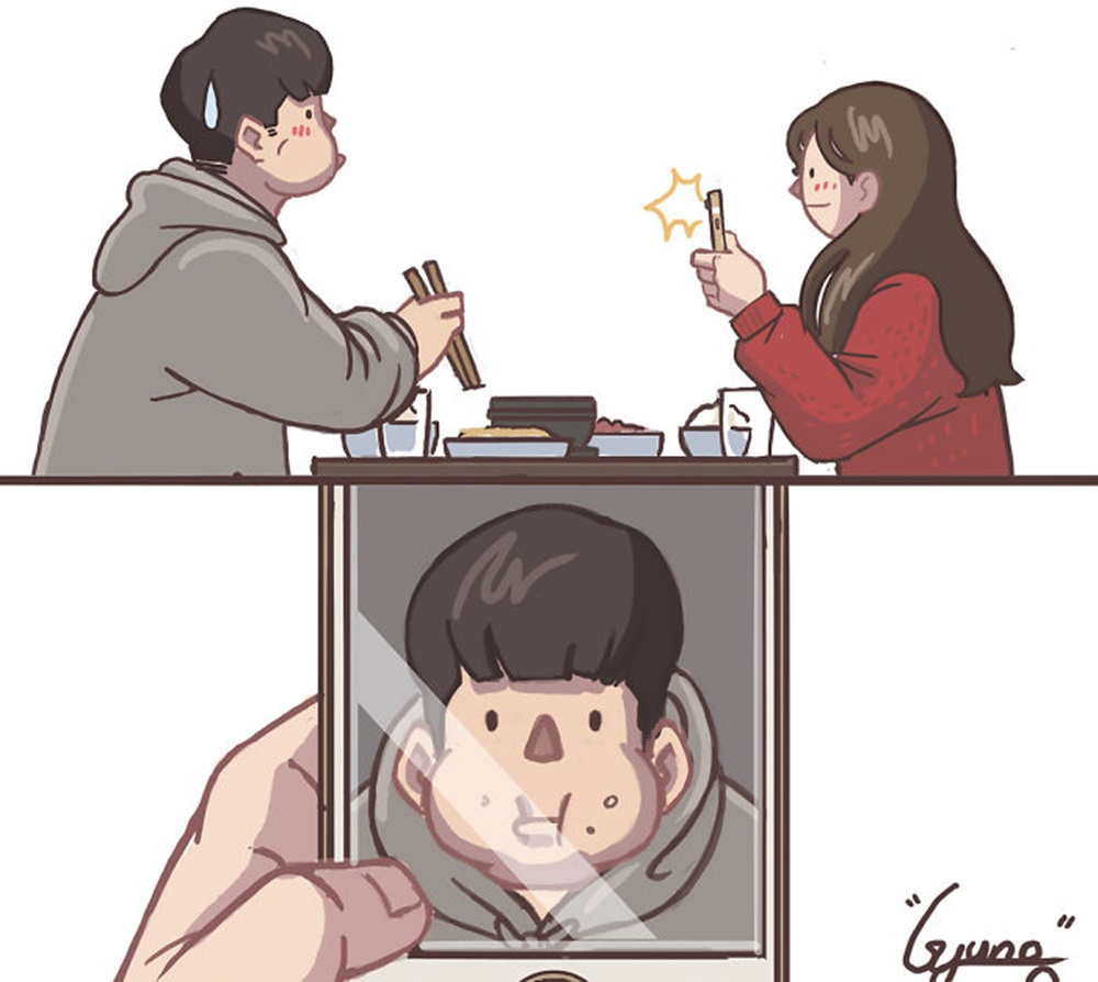 10 Ilustrasi Ini Gambarkan Romantisnya Percintaan Di Korea Selatan