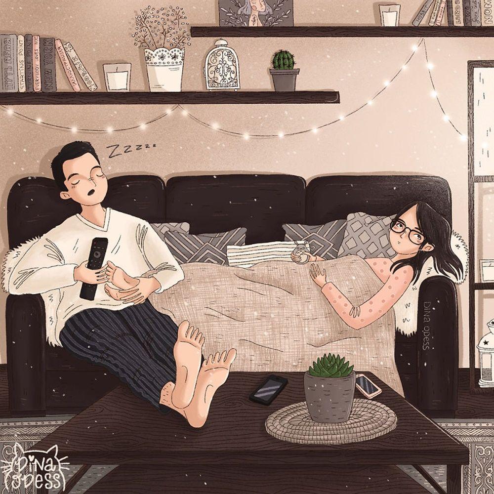 Yuk, Intip Kehidupan Setelah Menikah Lewat 10 Ilustrasi Ini