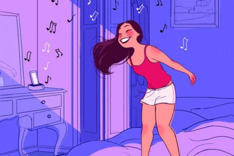 10 Ilustrasi Perempuan yang Bahagia Bisa Nikmati 'Me Time'