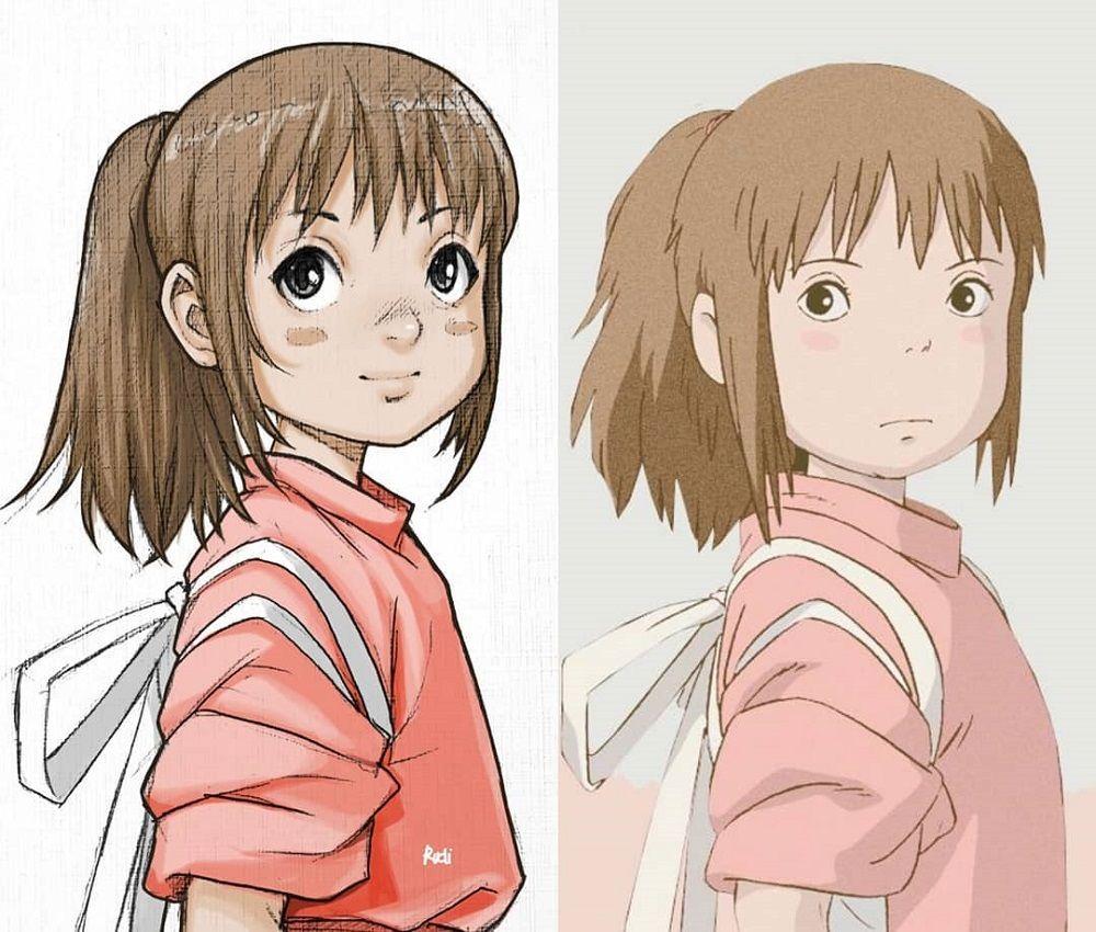 Menggambar ulang karakter anime