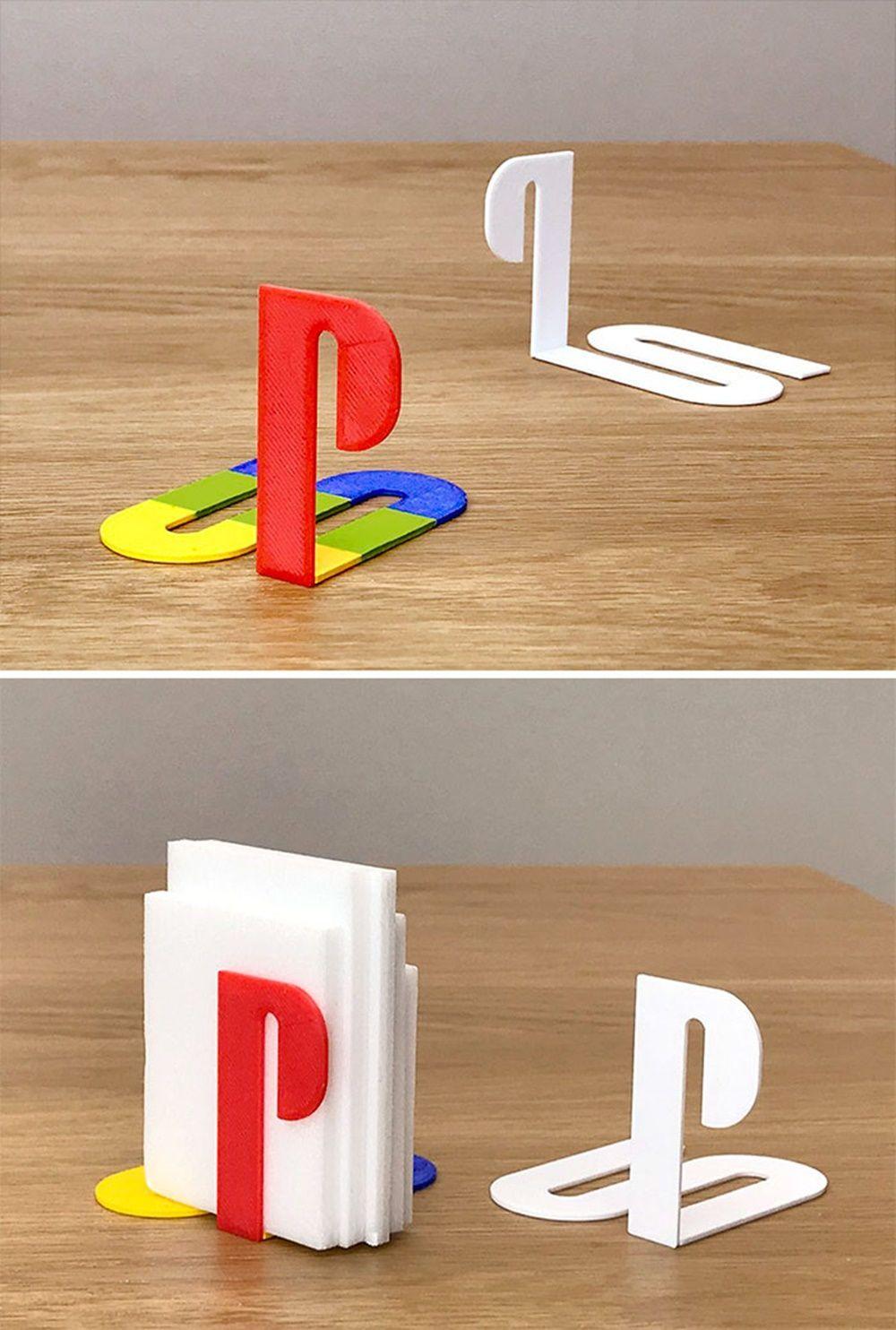 Logo 10 Play Station  Berfungsi Book Holder Lucu Ya Unik Benda Terinspirasi Brand Terkenal