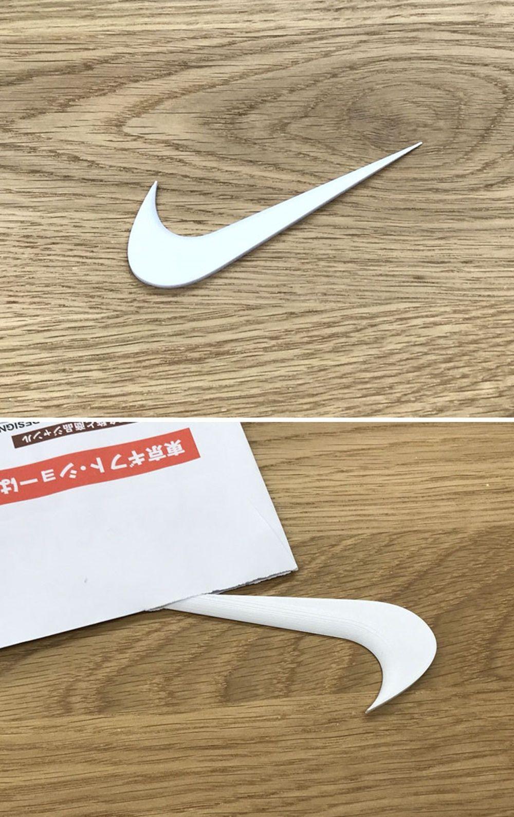 Logo Ujung Nike Tajam  Difungsikan Pembuka Amplop Kertas Unik Benda Terinspirasi Brand Terkenal