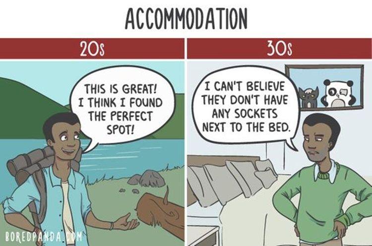 10 Ilustrasi Ini Ungkap Bedanya Pola Pikir di Usia 20 dengan 30 Tahun