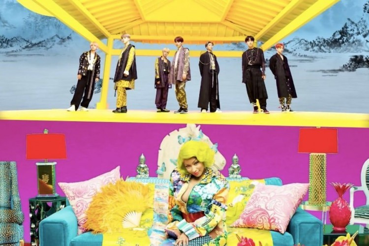 Wow, Kolaborasi Nicki Minaj dan BTS Ini Sangat Memukau