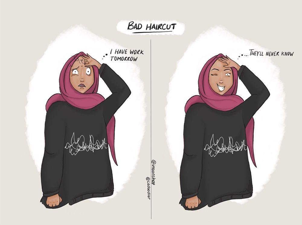 9 Ilustrasi Ini Gambarkan Masalah yang Dihadapi Perempuan Berhijab