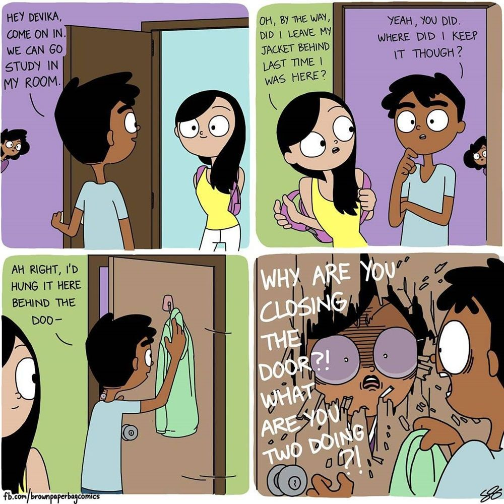 Selalu Diawasi, Ilustrasi Ini Ungkap Rasanya Punya Orangtua Protektif