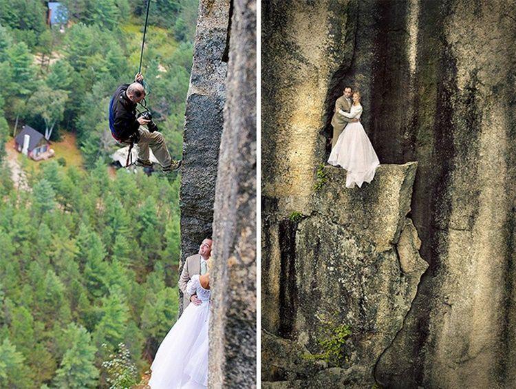 10 Foto Pre-Wedding Ini Buktikan Perjuangan Fotografer Saat Beraksi