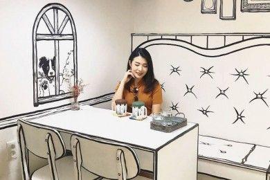 Kafe Ini Bikin Kamu Serasa Hidup di Dunia Kartun