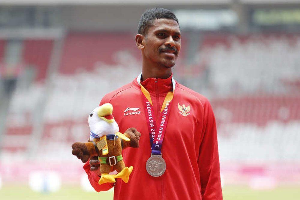 Termotivasi Sang Istri, Atlet Para Atletik Indonesia Raih Medali Perak